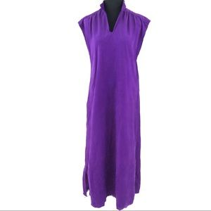 Super cute vintage 70's shift maxi dress